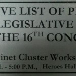 (6) Cabinet Clusters hold workshop to prioritize legislative measures for 16th Congress1